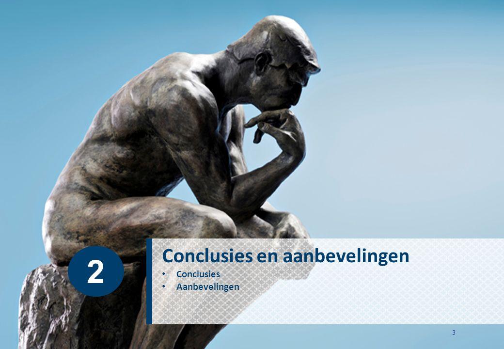 3 Conclusies en aanbevelingen Conclusies Aanbevelingen 2