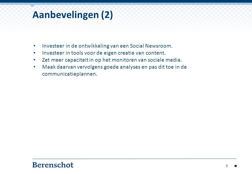 Investeer in de ontwikkeling van een Social Newsroom.
