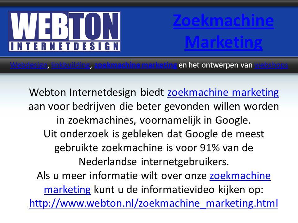 Zoekmachine Marketing WebdesignWebdesign, linkbuilding, zoekmachine marketing en het ontwerpen van webshopslinkbuildingzoekmachine marketingwebshops W