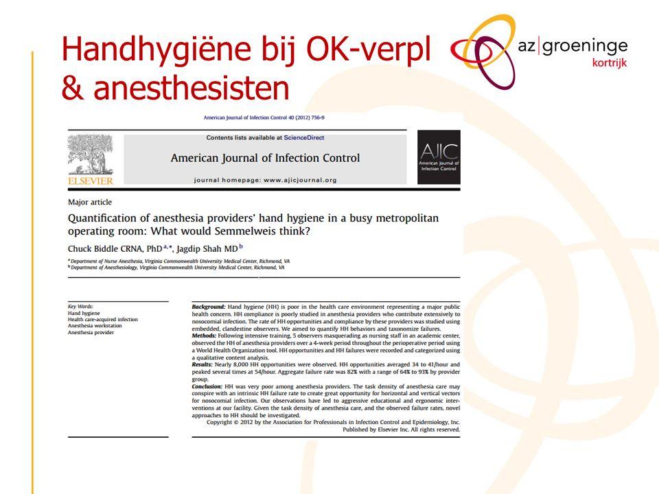 Handhygiëne bij OK-verpl & anesthesisten