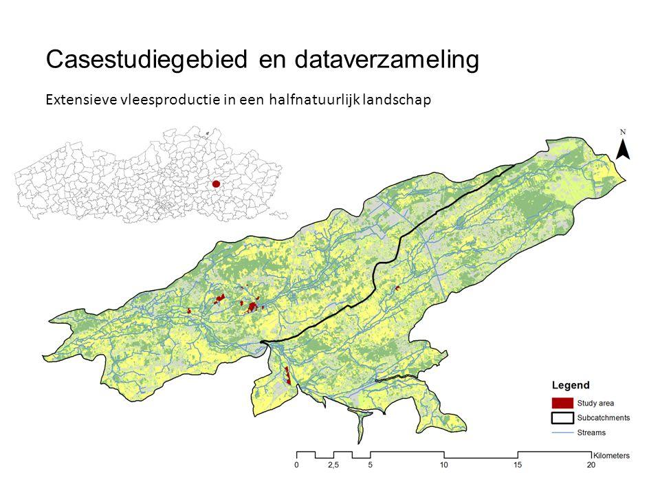 Casestudiegebied en dataverzameling Extensieve vleesproductie in een halfnatuurlijk landschap