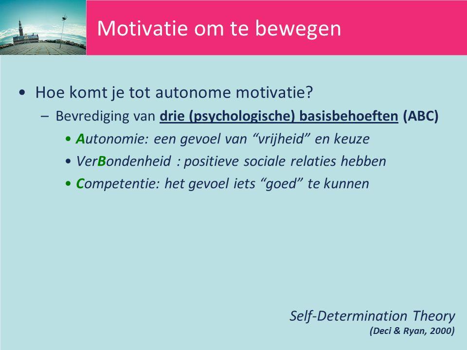 Hoe komt je tot autonome motivatie.