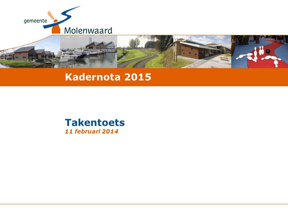 Takentoets 11 februari 2014 Kadernota 2015