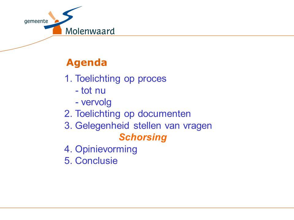 Agenda 1. Toelichting op proces - tot nu - vervolg 2.