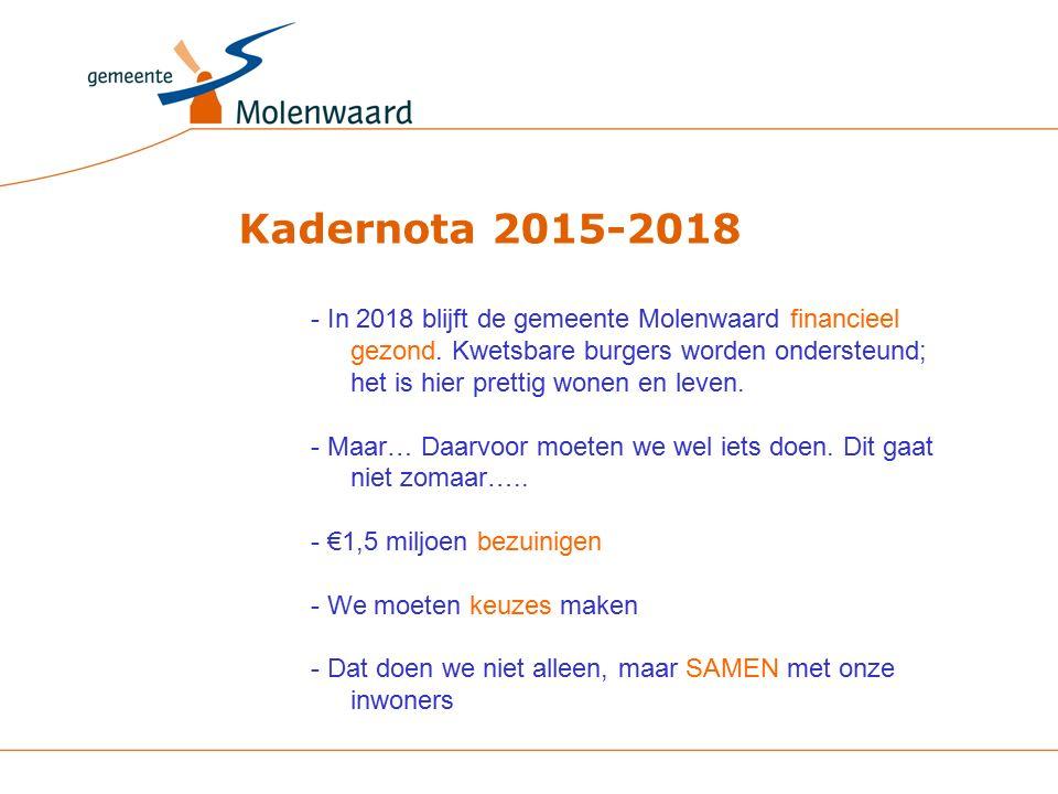 - In 2018 blijft de gemeente Molenwaard financieel gezond.