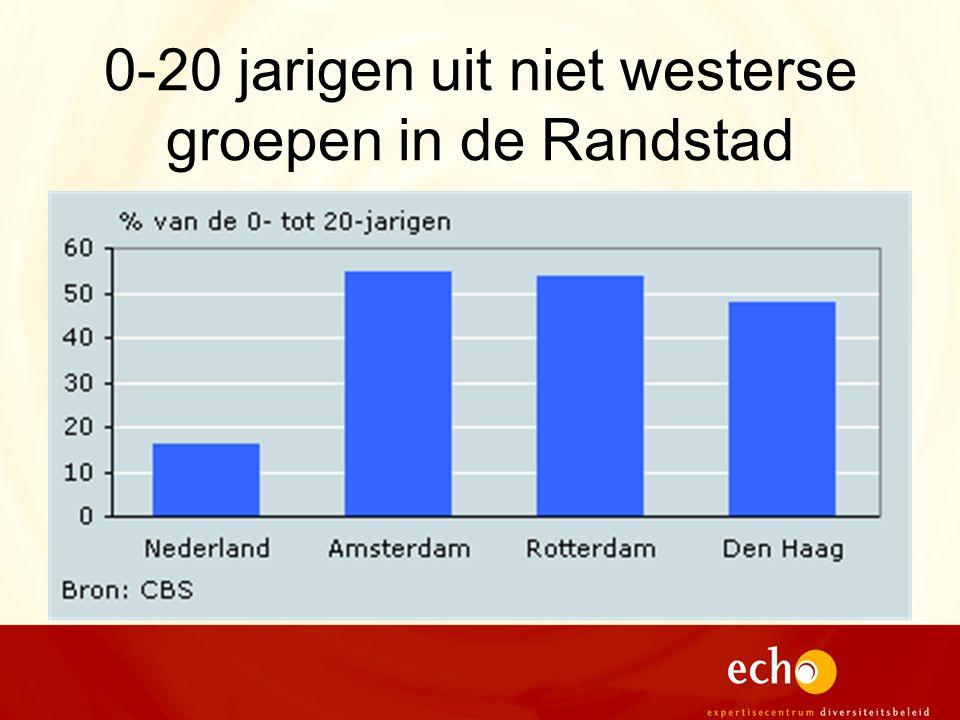 0-20 jarigen uit niet westerse groepen in de Randstad