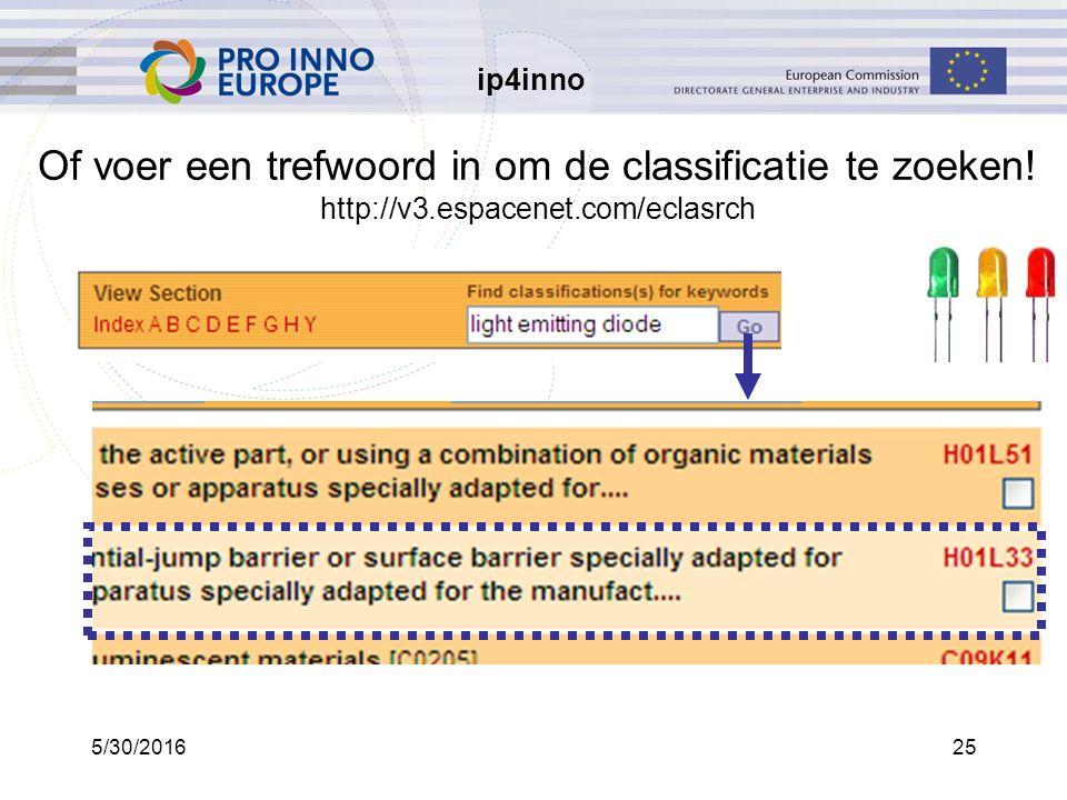ip4inno 5/30/201625 Of voer een trefwoord in om de classificatie te zoeken.