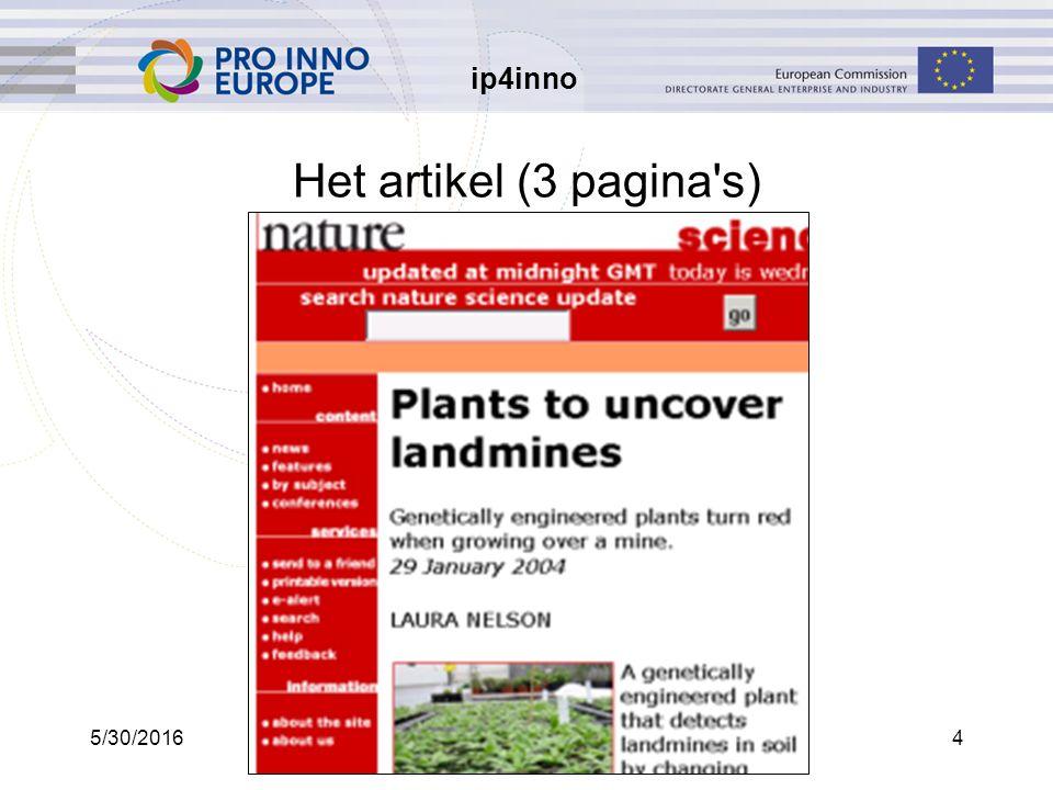 ip4inno 5/30/20164 Het artikel (3 pagina s)