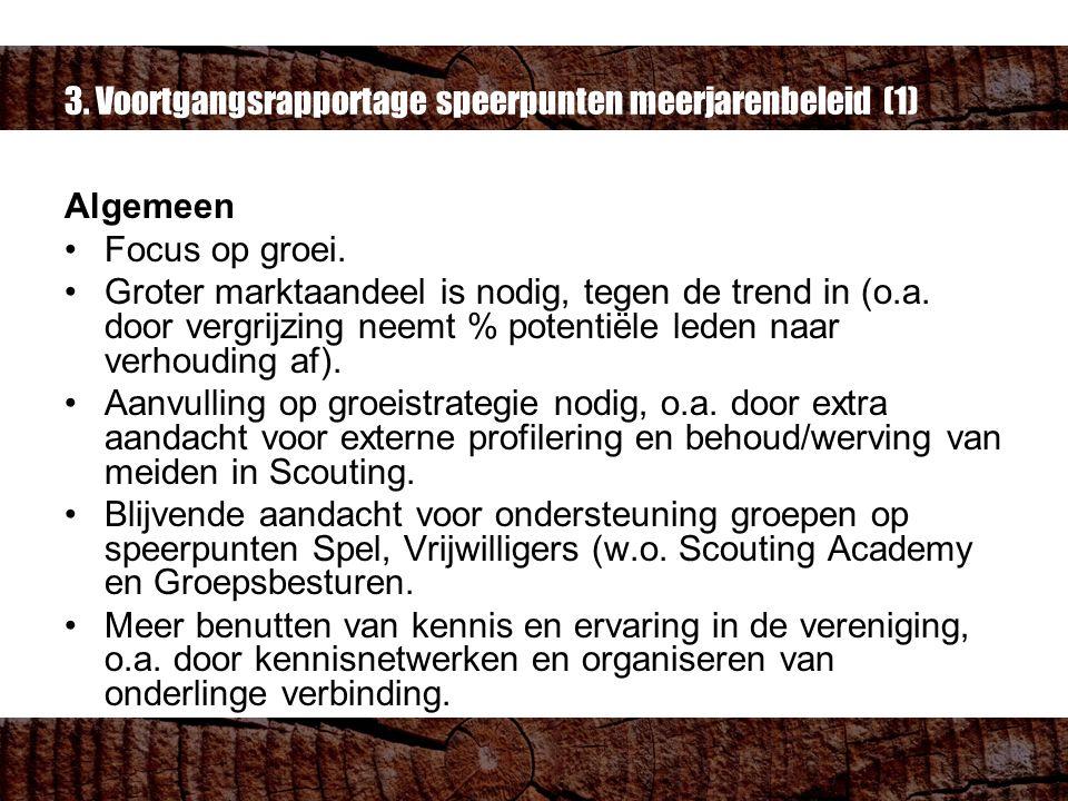 3. Voortgangsrapportage speerpunten meerjarenbeleid (1) Algemeen Focus op groei.