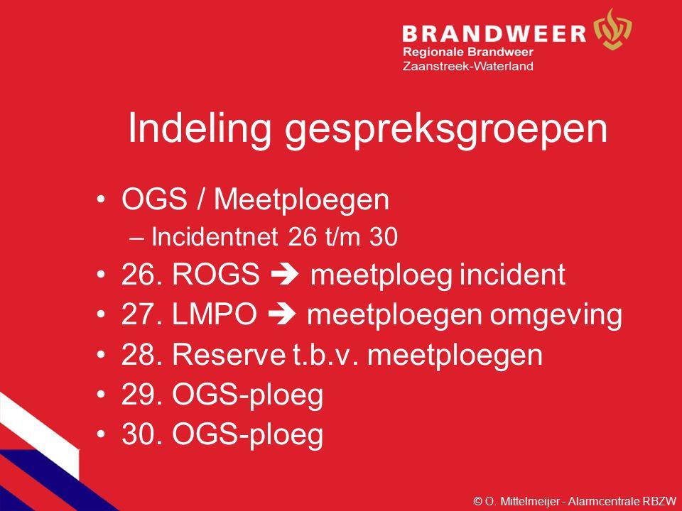Indeling gespreksgroepen OGS / Meetploegen –Incidentnet 26 t/m 30 26.
