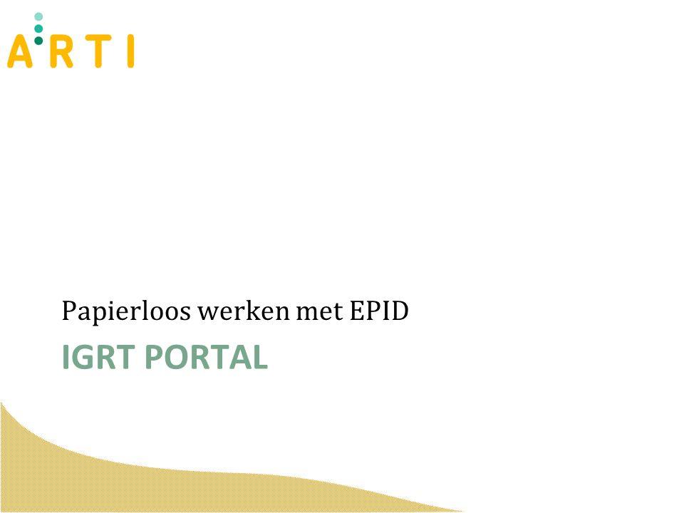 IGRT PORTAL Papierloos werken met EPID