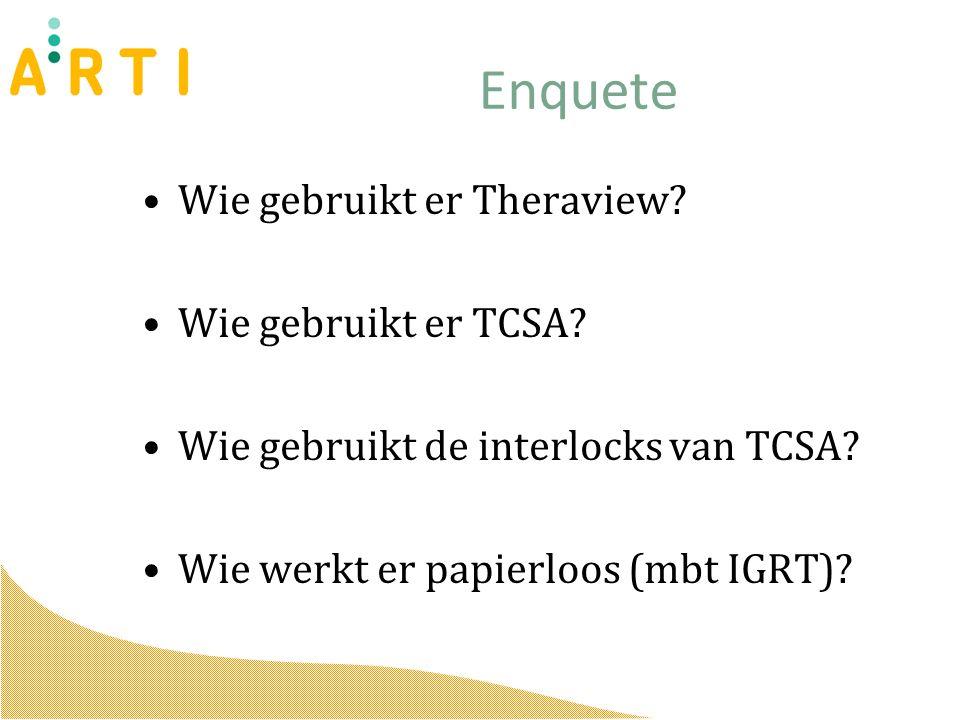 Enquete Wie gebruikt er Theraview. Wie gebruikt er TCSA.