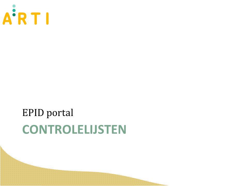 CONTROLELIJSTEN EPID portal