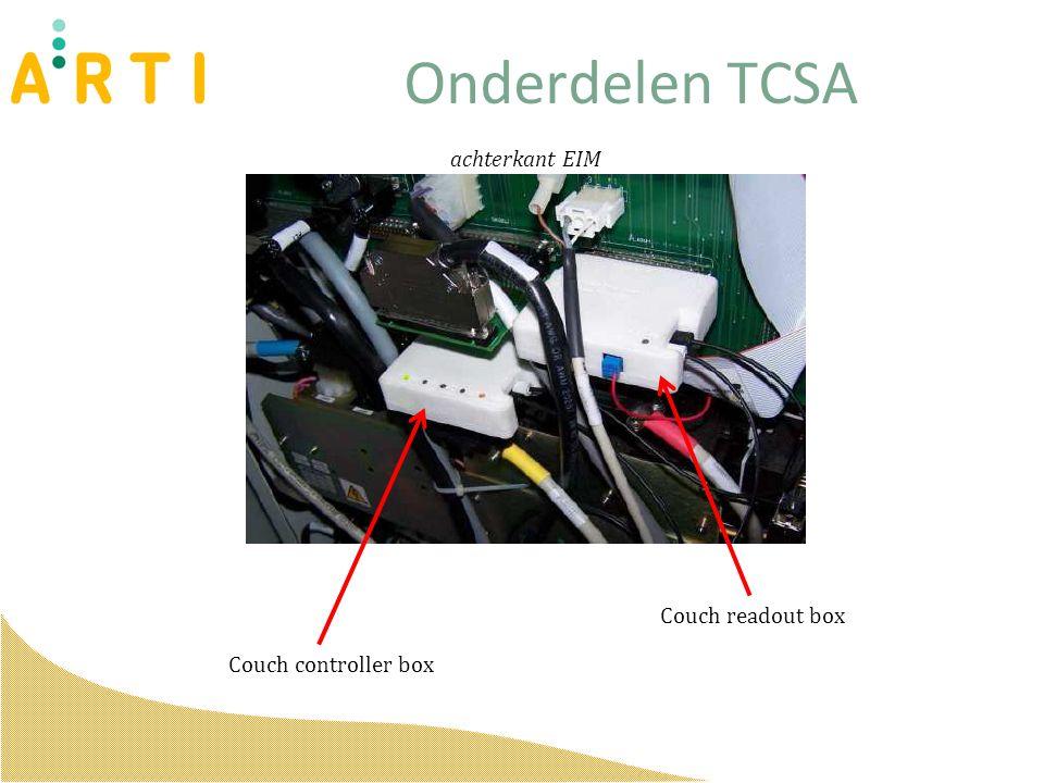 Onderdelen TCSA Couch controller box Couch readout box achterkant EIM