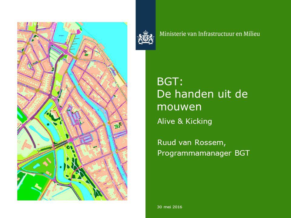 30 mei 2016 BGT: De handen uit de mouwen Alive & Kicking Ruud van Rossem, Programmamanager BGT