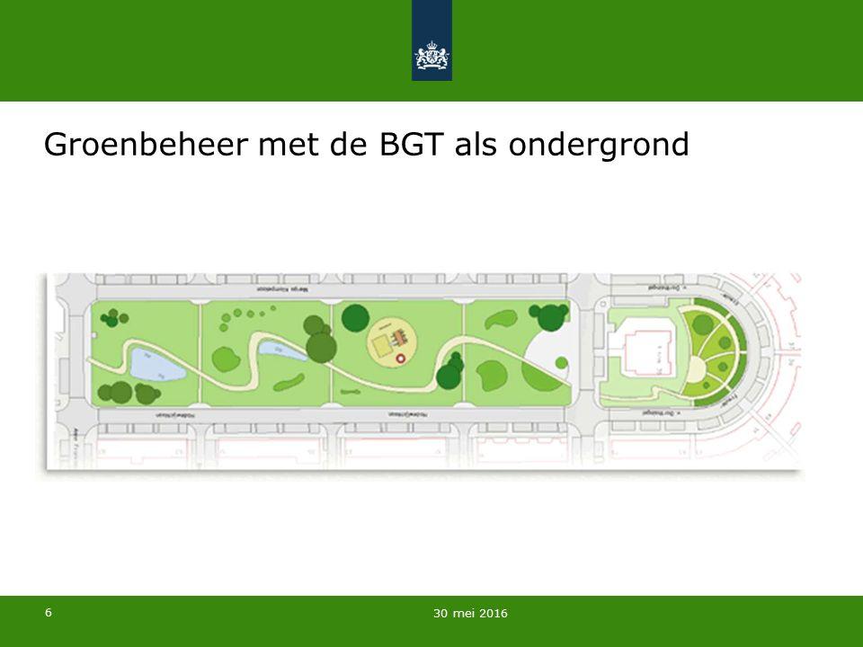 7 BGT (IMBGT) Plustopografie (IMGEO) Thema van gebruiker (Sectormodel A) Thema van gebruiker (Sectormodel B) De BGT als ondergrond voor projectie van thema's