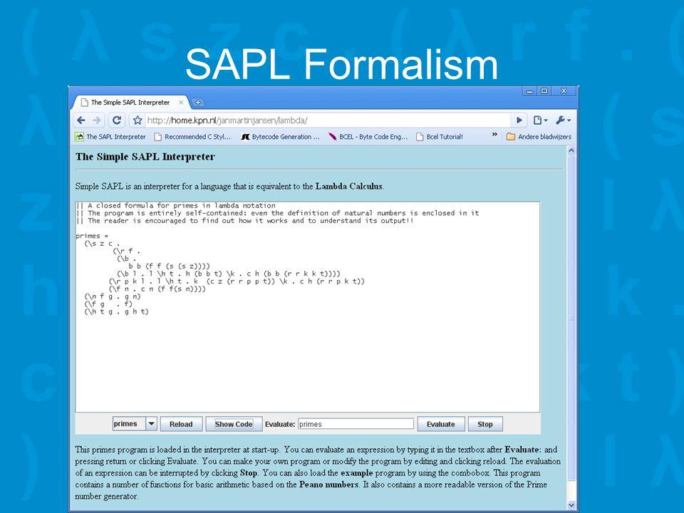 SAPL Formalism