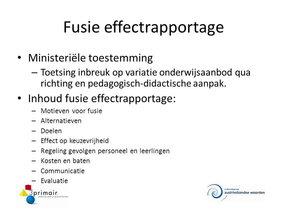Fusie effectrapportage Ministeriële toestemming – Toetsing inbreuk op variatie onderwijsaanbod qua richting en pedagogisch-didactische aanpak. Inhoud