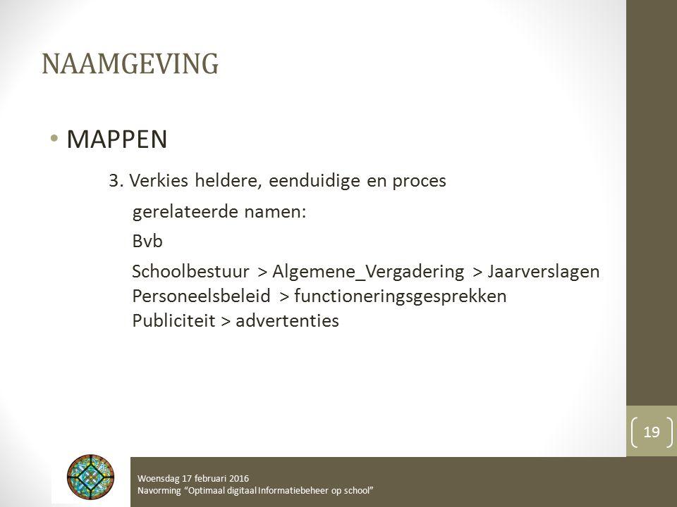 NAAMGEVING MAPPEN 3.