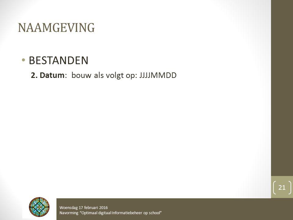 NAAMGEVING BESTANDEN 2.