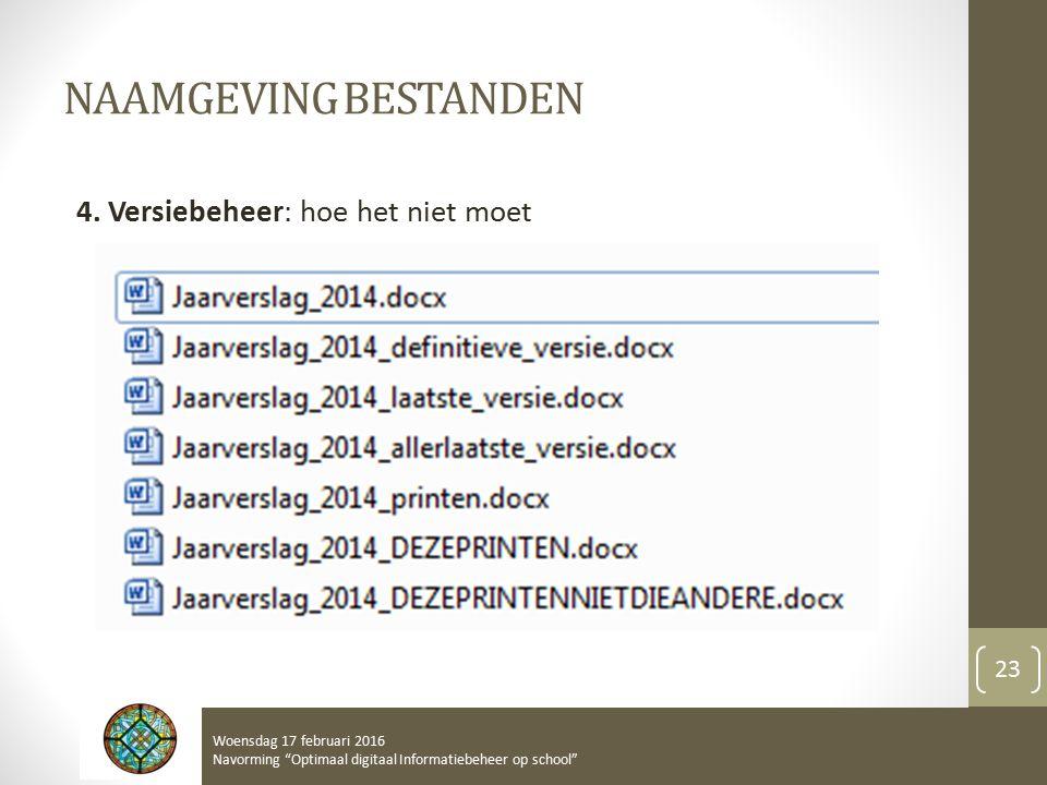 NAAMGEVING BESTANDEN 4.