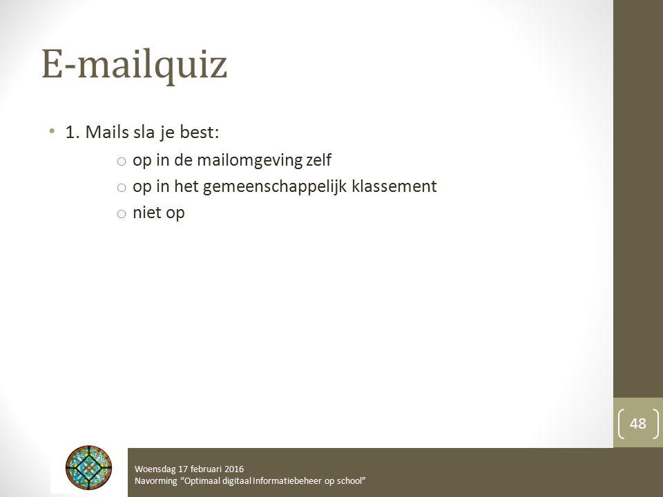 E-mailquiz 1.