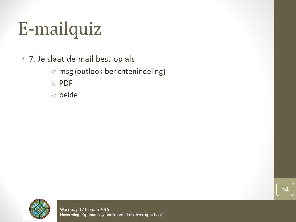 E-mailquiz 7.