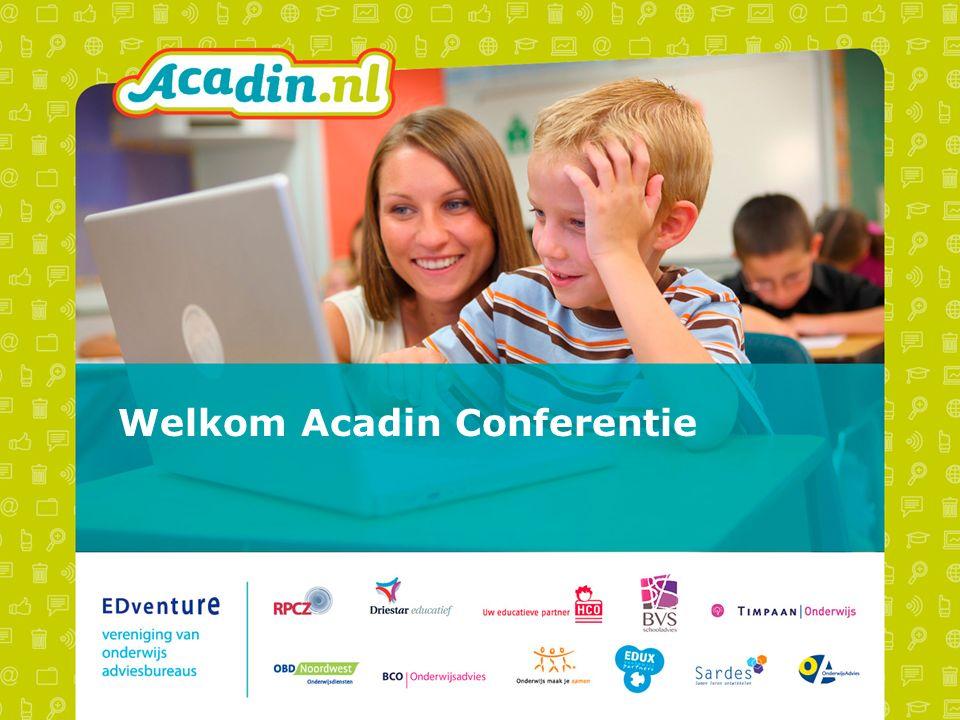 Welkom Acadin Conferentie