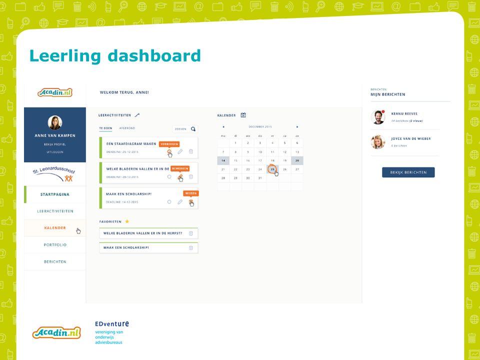 Leerling dashboard