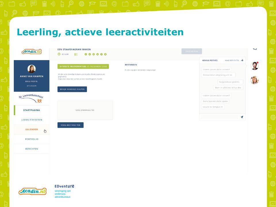 Leerling, actieve leeractiviteiten