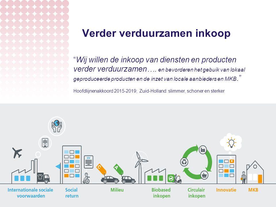 Verder verduurzamen inkoop Wij willen de inkoop van diensten en producten verder verduurzamen….