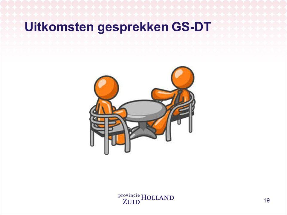 Uitkomsten gesprekken GS-DT 19