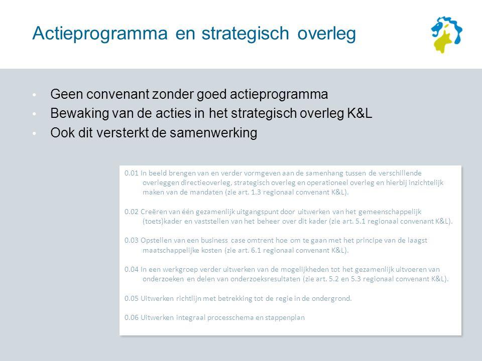 0.01 In beeld brengen van en verder vormgeven aan de samenhang tussen de verschillende overleggen directieoverleg, strategisch overleg en operationeel overleg en hierbij inzichtelijk maken van de mandaten (zie art.