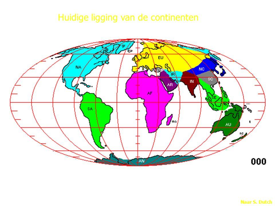 Naar S. Dutch Huidige ligging van de continenten