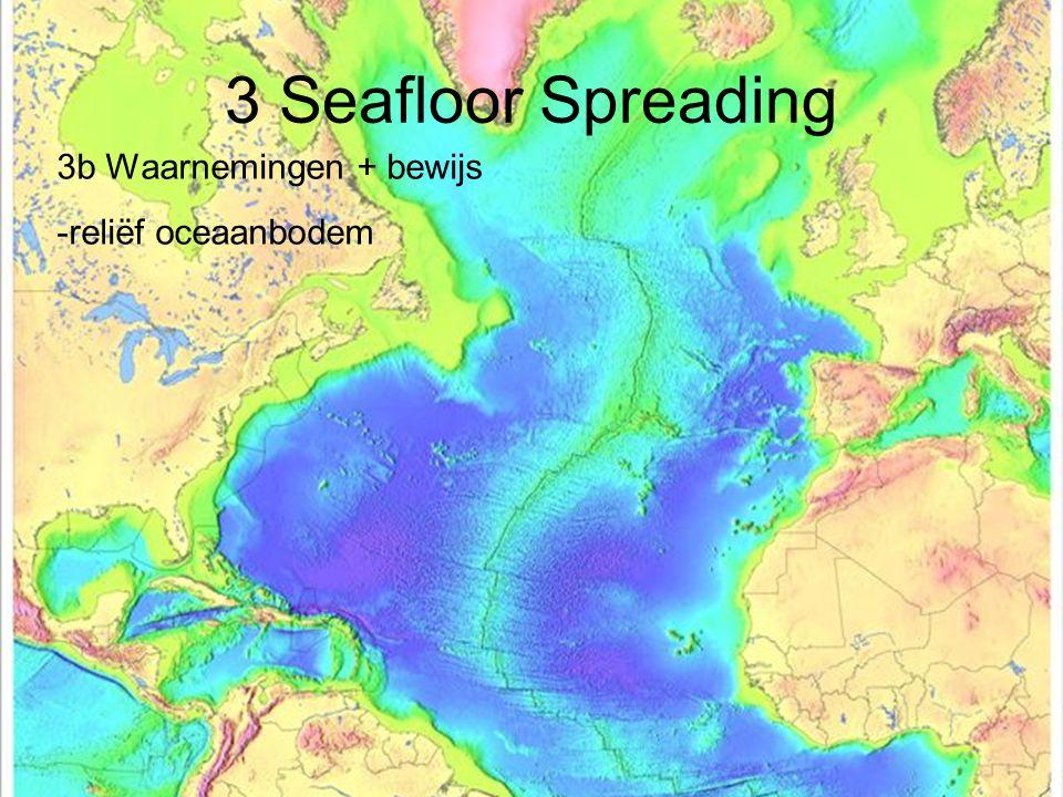 3 Seafloor Spreading 3b Waarnemingen + bewijs -reliëf oceaanbodem