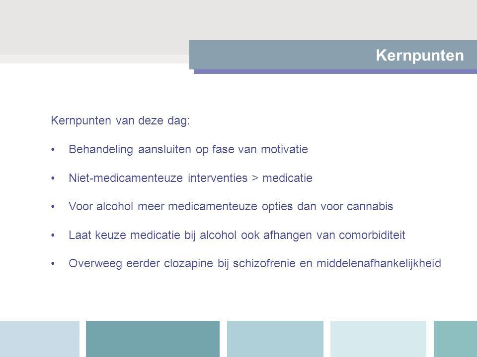 Alcohol: vergelijking effectiviteit Van den Brink 2012