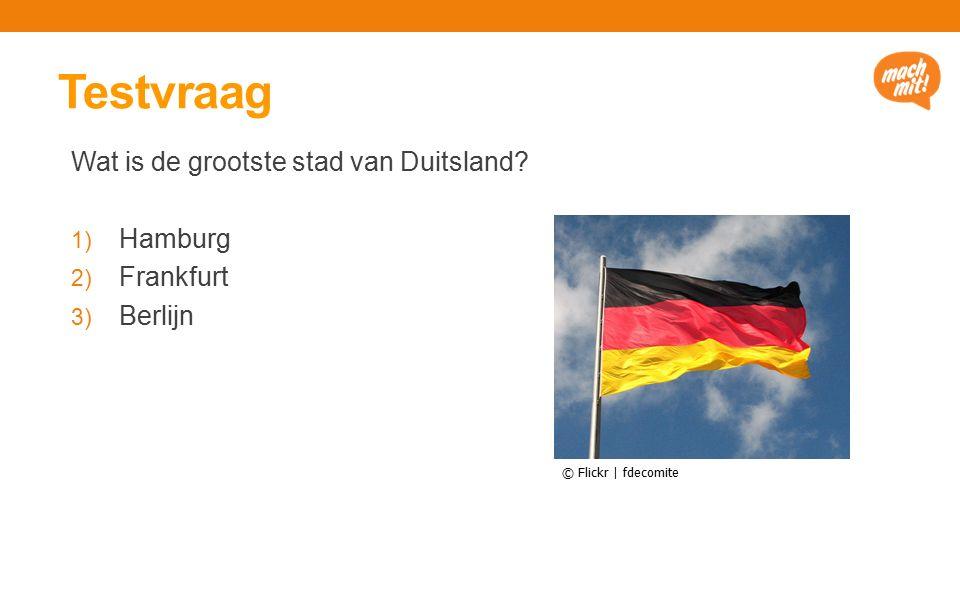 Testvraag Wat is de grootste stad van Duitsland.