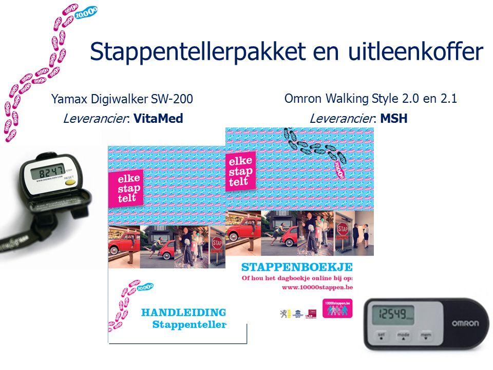 Stappentellerpakket en uitleenkoffer Yamax Digiwalker SW-200 Omron Walking Style 2.0 en 2.1 Leverancier: VitaMedLeverancier: MSH