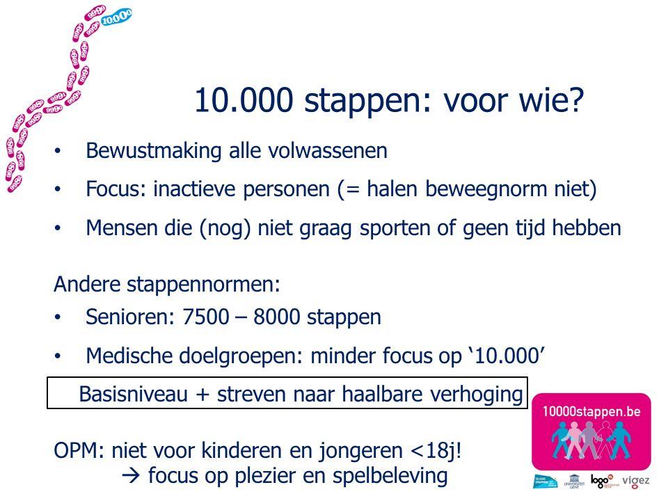10.000 stappen: voor wie.