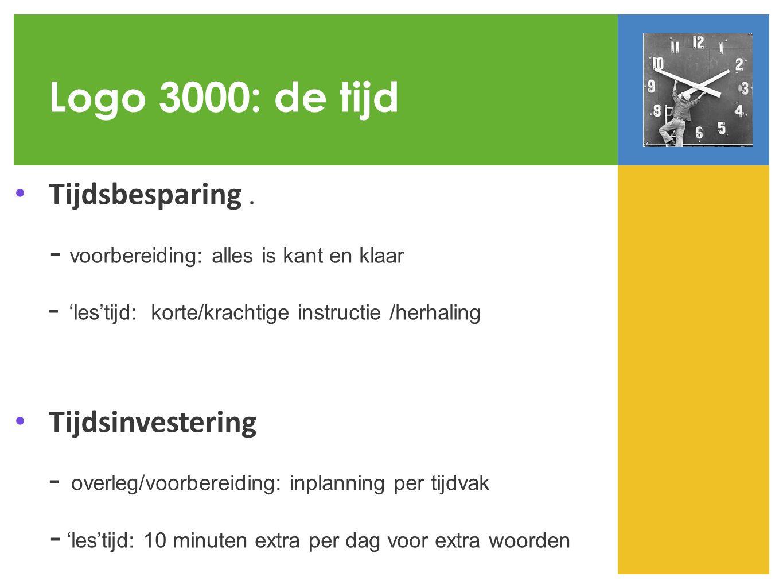 Logo 3000: de tijd Tijdsbesparing.