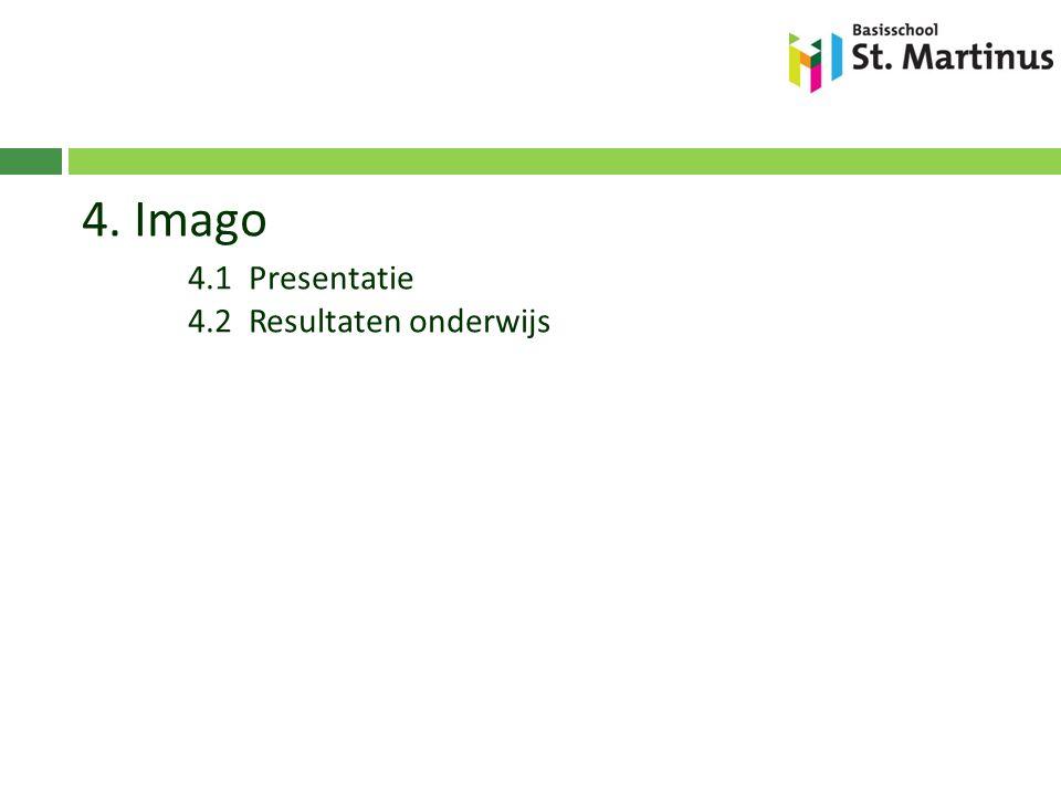 4. Imago 4.1 Presentatie 4.2 Resultaten onderwijs