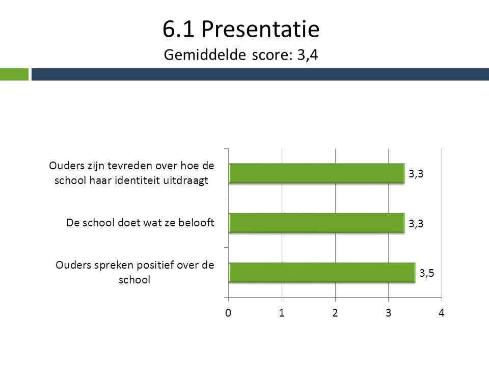 6.1 Presentatie Gemiddelde score: 3,4