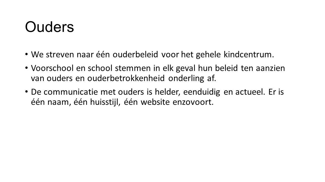 De voordelen van een kindcentrum 0-13 voor het kind De overgang van voorschool naar school verloopt haast ongemerkt.
