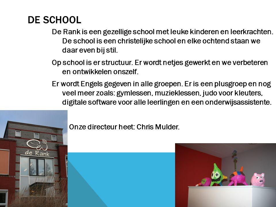 DE SCHOOL De Rank is een gezellige school met leuke kinderen en leerkrachten.