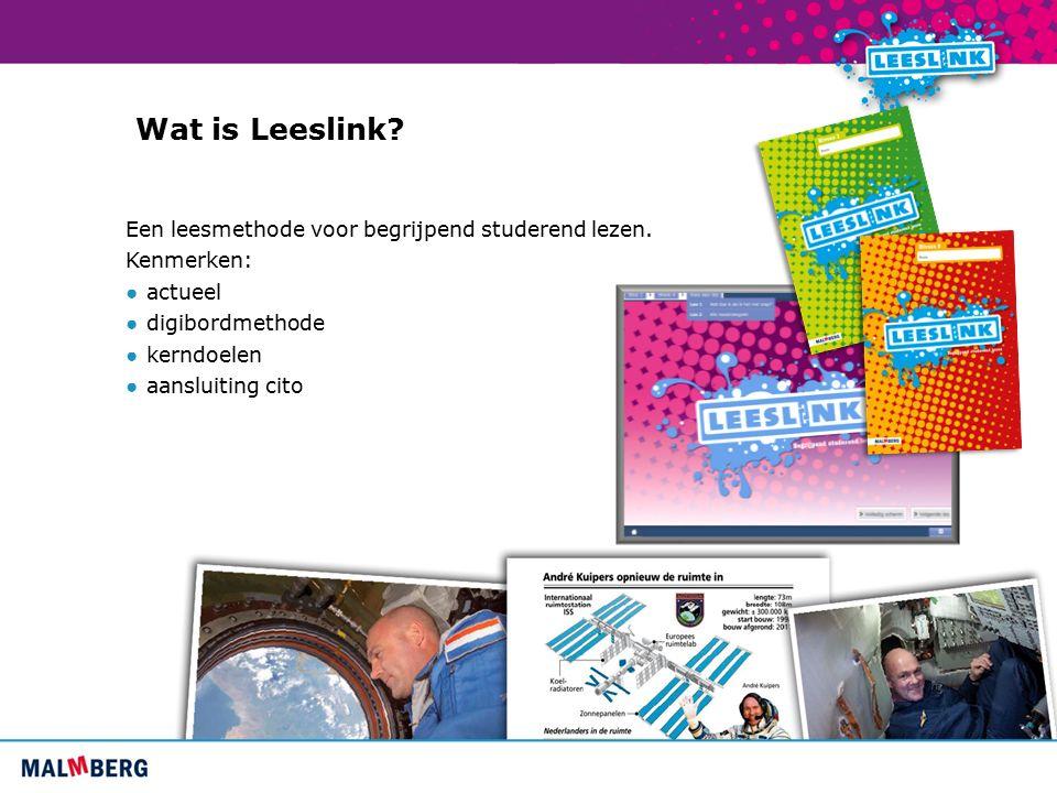 Wat is Leeslink. Een leesmethode voor begrijpend studerend lezen.