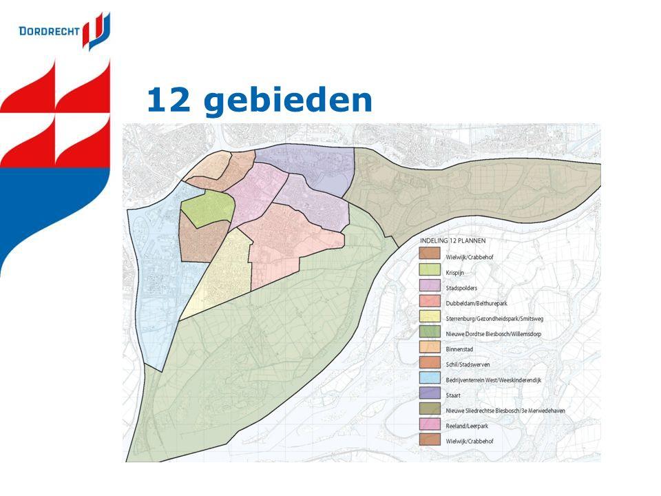 12 gebieden