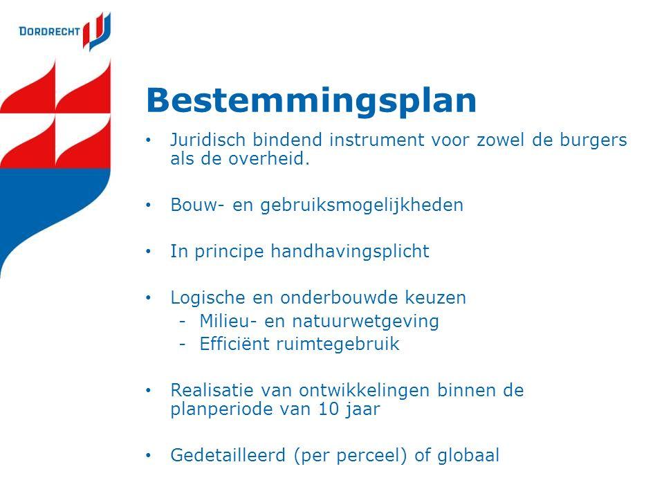 Bestemmingsplan Juridisch bindend instrument voor zowel de burgers als de overheid.