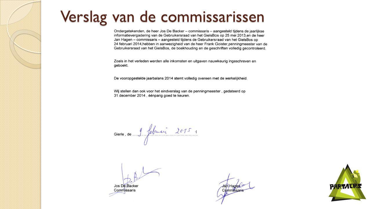 Verslag van de commissarissen