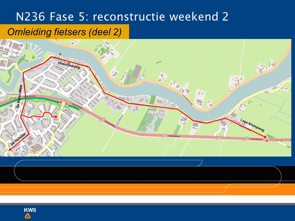 Omleiding fietsers (deel 2) N236 Fase 5: reconstructie weekend 2 Utrechtseweg De Hofstee De Kleine Weer Lage Klompweg