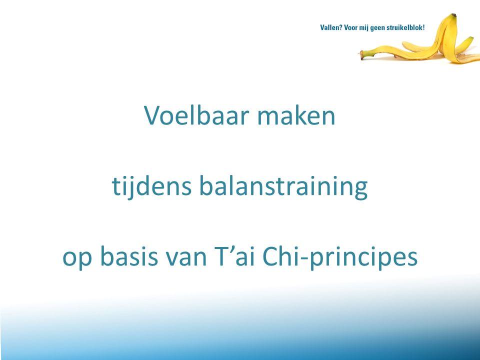 Voelbaar maken tijdens balanstraining op basis van T'ai Chi-principes